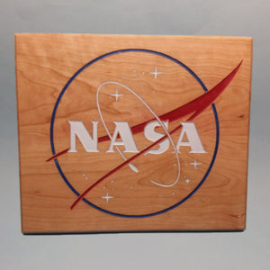NASA Rectangular Logo Painted Display Base
