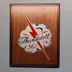 P-47 Thunderbolt Logo Painted Display Base