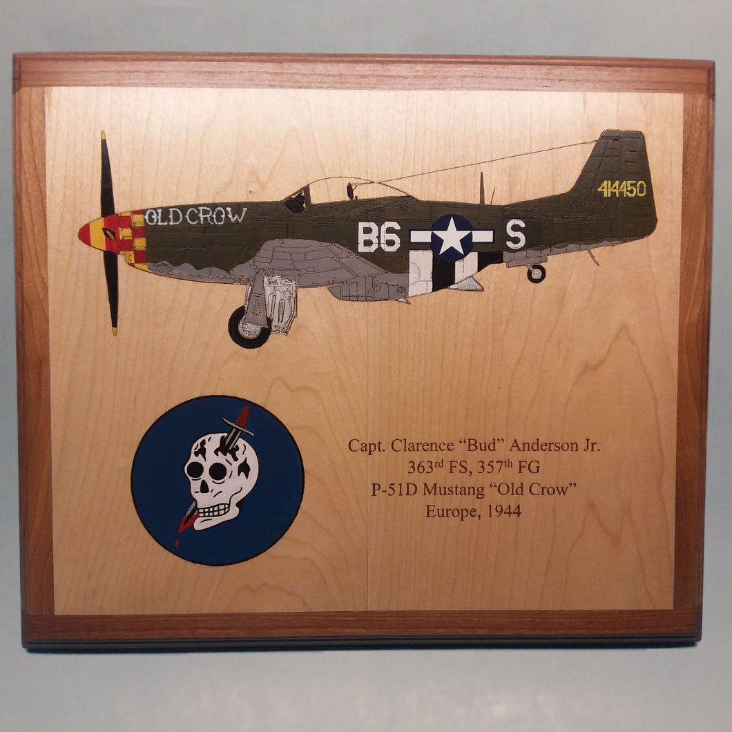 P-51 Old Crow Painted Display Base