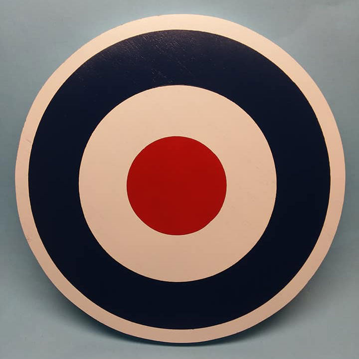 RAF Type D Roundel Painted Display Base