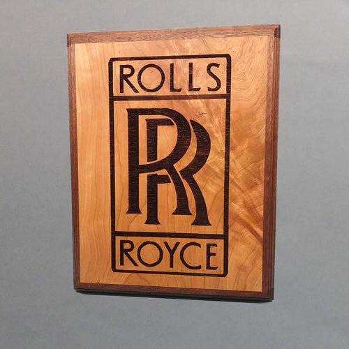 Rolls-Royce Laser-Engraved Display Base