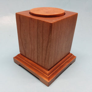 Rotating Hardwood Figure Display Base