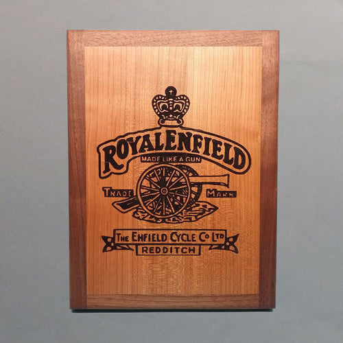 Royal Enfield Laser-Engraved Display Base