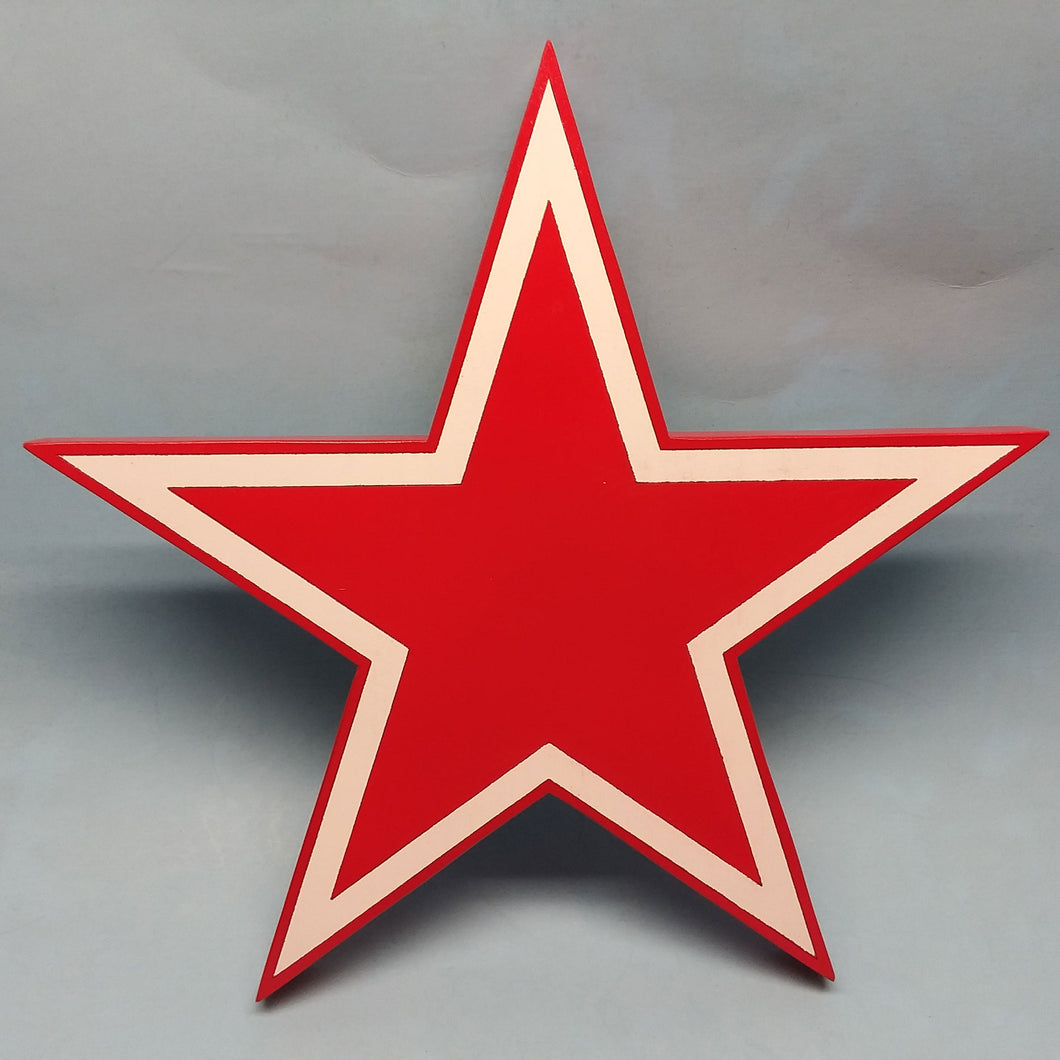 Red Star Painted Display Base
