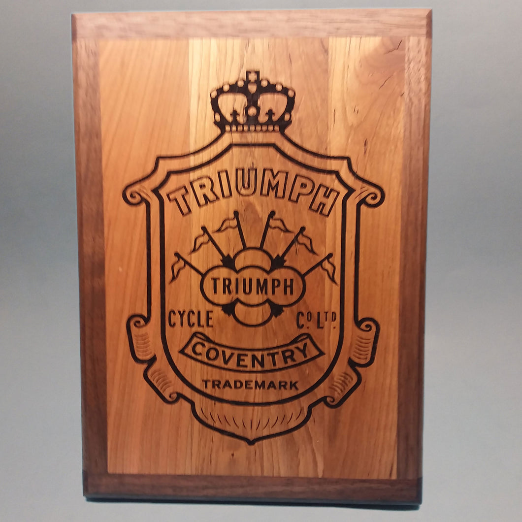 Triumph Motorcycles Laser-Engraved Display Base