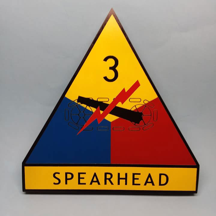 US 3rd Armored Painted Display Base