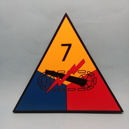 7th Armored Painted Display Base