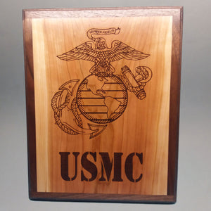 USMC Laser-Engraved Display Base