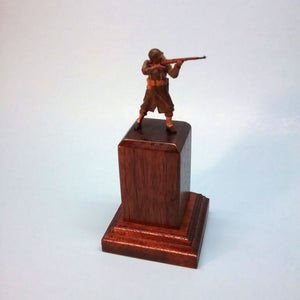 Hardwood Figure Display Base
