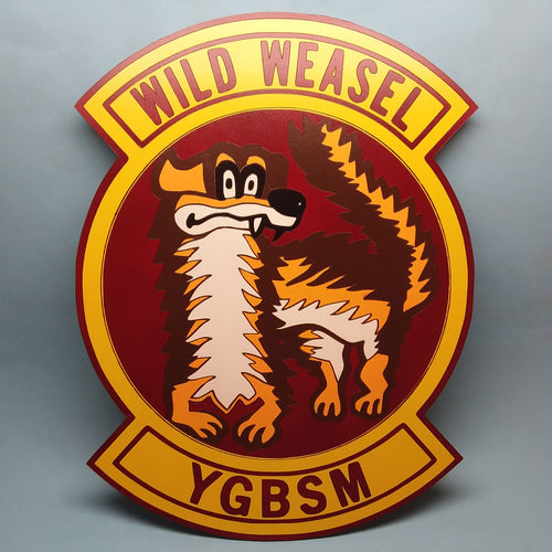 Wild Weasel Painted Display Base