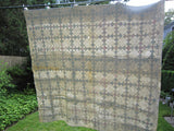 Handmade Vintage Quilt Small Diamond Pattern