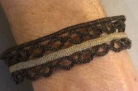 Antique 19thC Mourning Jewelry-Victorian Hair Work Bracelet