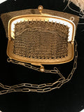 Vintage Gold Mesh Evening Bag Purse
