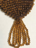 Beaded Purse Evening Bag In Brown And Butterscotch