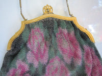 Vintage Multi Colored Mesh Evening Bag Purse