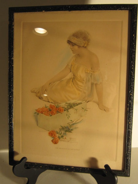 "Original Bessie Pease Gutmann Print ""The Message of the Roses"""