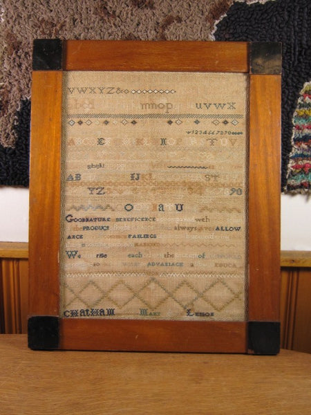 Beautiful Antique Needlepoint Sampler dated 1835