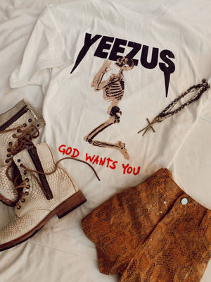 Yeezus Knows God Wants You (white)