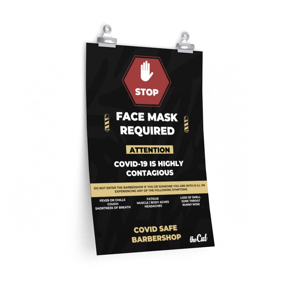 FACE MASK REQUIRED - BARBERSHOP POSTER