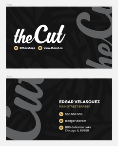theCut Business Cards