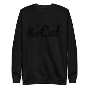 theCut Black x Black Fleece Pullover