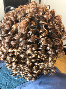 flexi rod set on colored hair, flexi rod style on natural hair, natural hair styles, colored natural hair, how to do a flexi rod set on natural hair