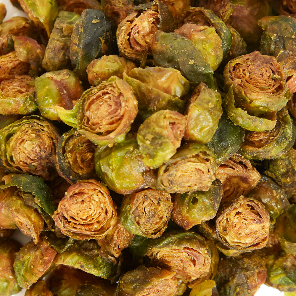 Crispy Almond Butter Brussels Sprouts