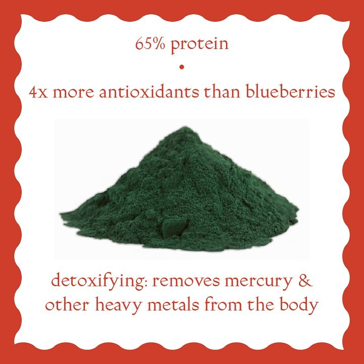 SPIRULINA- a superfood that is an antioxidant and a good source of potassium, calcium, magnesium and more! You can find this detoxifying ingredient in our CRISPY ALMOND BUTTER BRUSSELS SPROUTS! Indulging never felt so good.