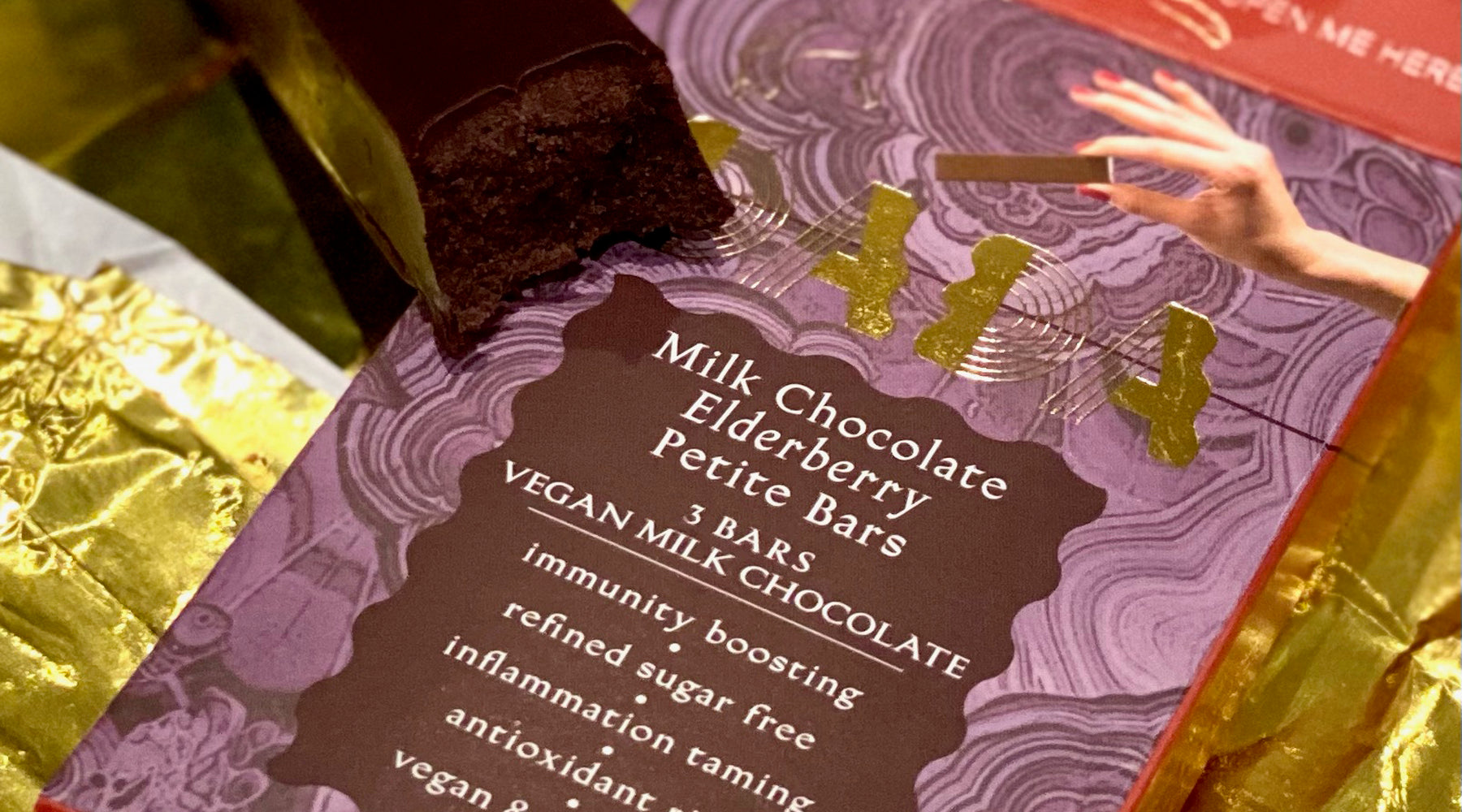 vegan, milk, chocolate, elderberry, petite, bars, sugar free, dairy free, truffle, dada daily, decadence, ritual, elevate, snacks
