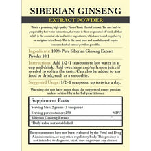 Siberian Ginseng / Eleuthero Root - Body, Mind, Focus, Energy