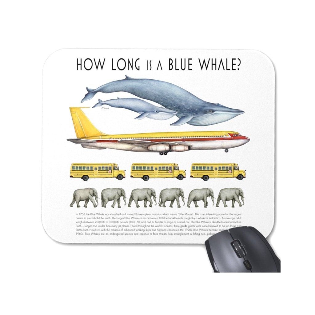 [029-MP] How Long Whale Mousepad