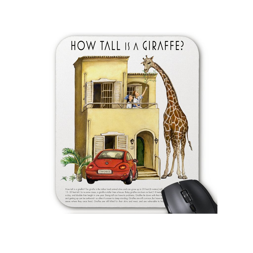 [034-MP] How Tall Giraffe Mousepad