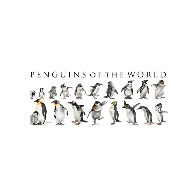 [SA-072] World Penguins Horz Stock Art