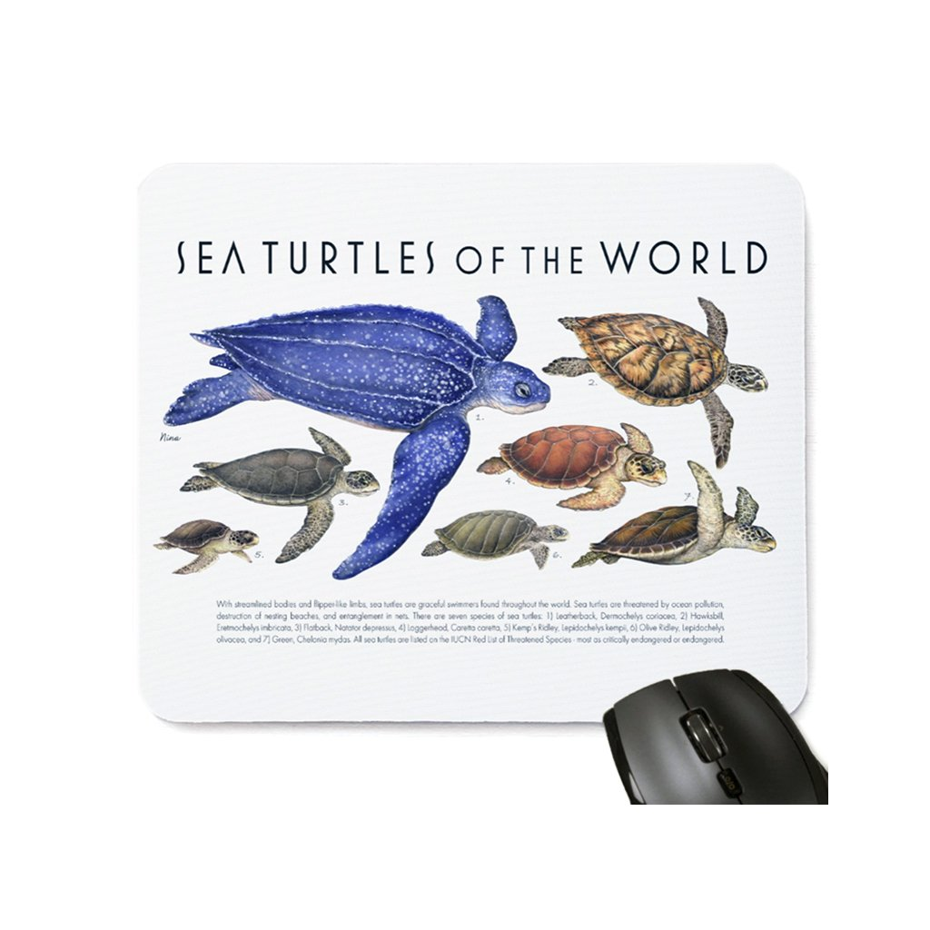 [077-MP] Sea Turtles of the World Mousepad