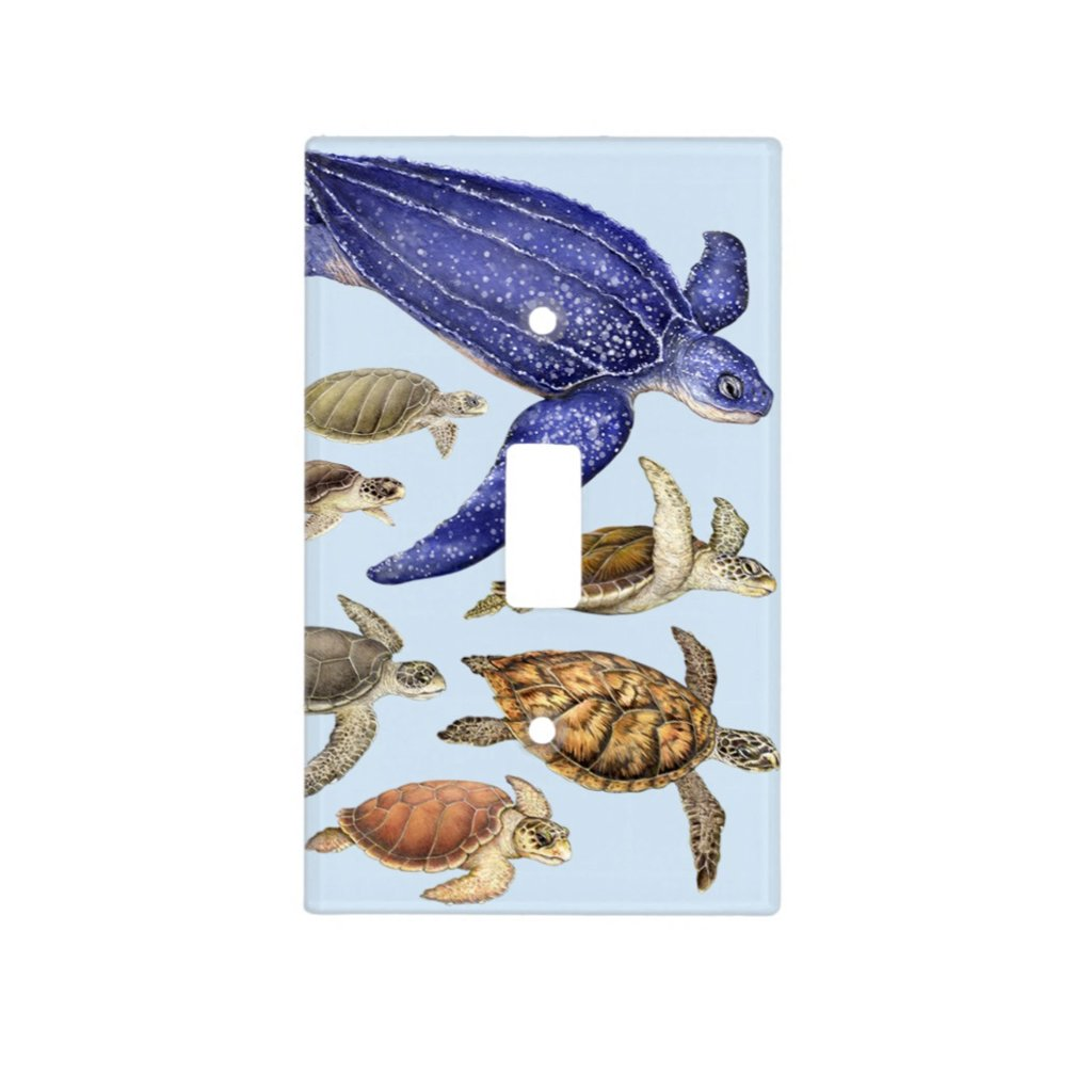 [077-SC] Sea Turtles of the World Light Switch Cover