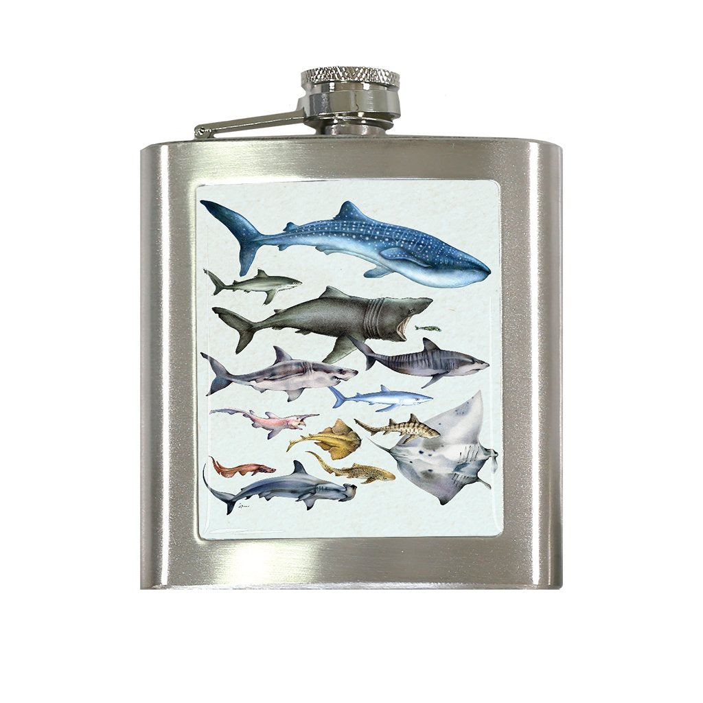 [FL-079] World Sharks Flask