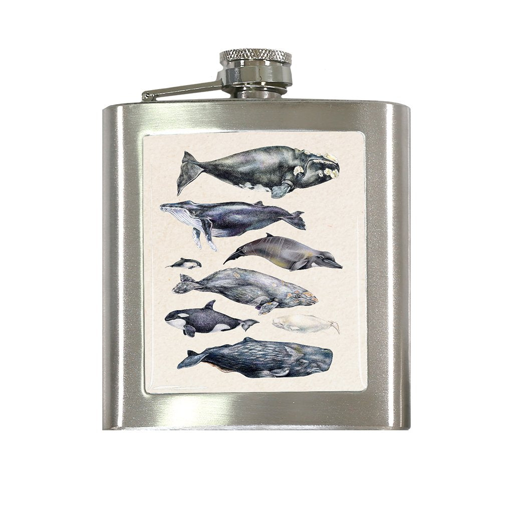 [FL-080] Whales World Flask