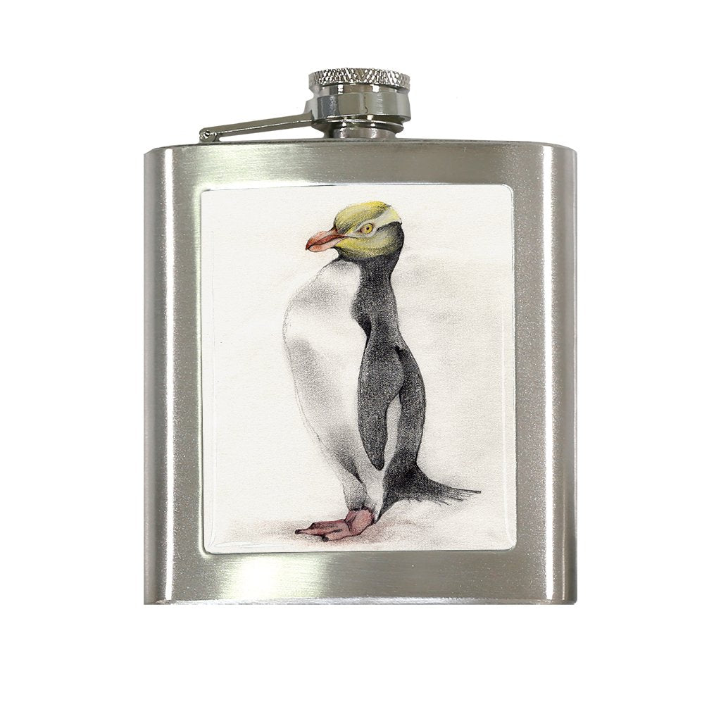 [FL-178] Yellow Eyed Penguin Flask
