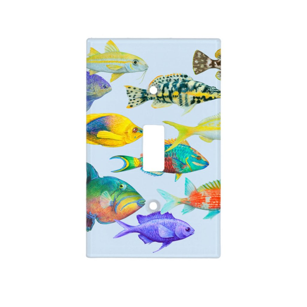 [200-SC] Fish of the Atlantic Light Switch Cover