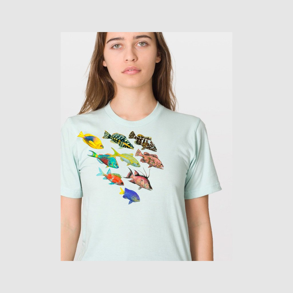 [201-T] Fish of the Atlantic Alt Tee