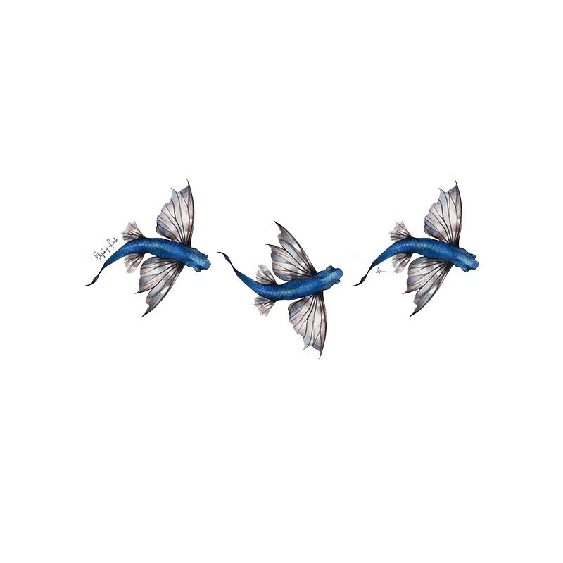 [SA-204] Flying Fish Stock Art