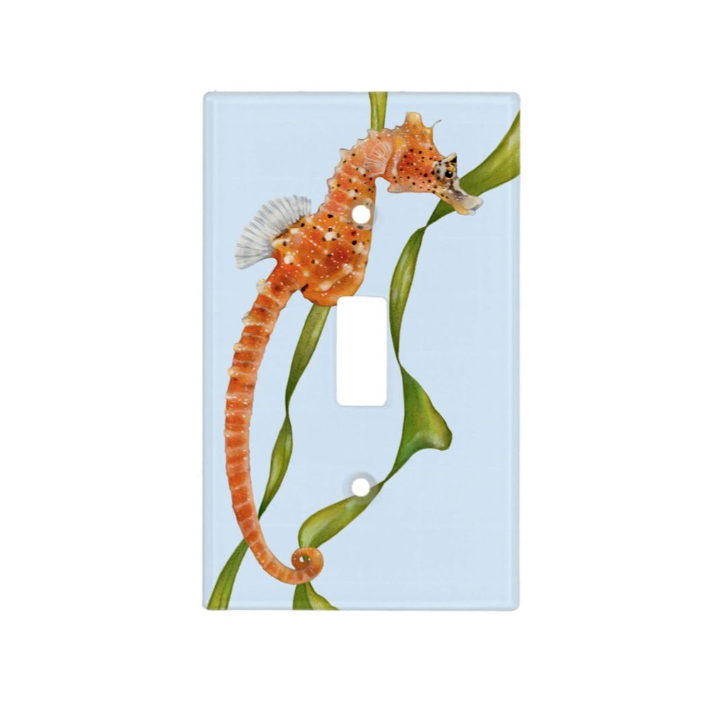 [221-SC] Short Snouted Seahorse Light Switch Cover
