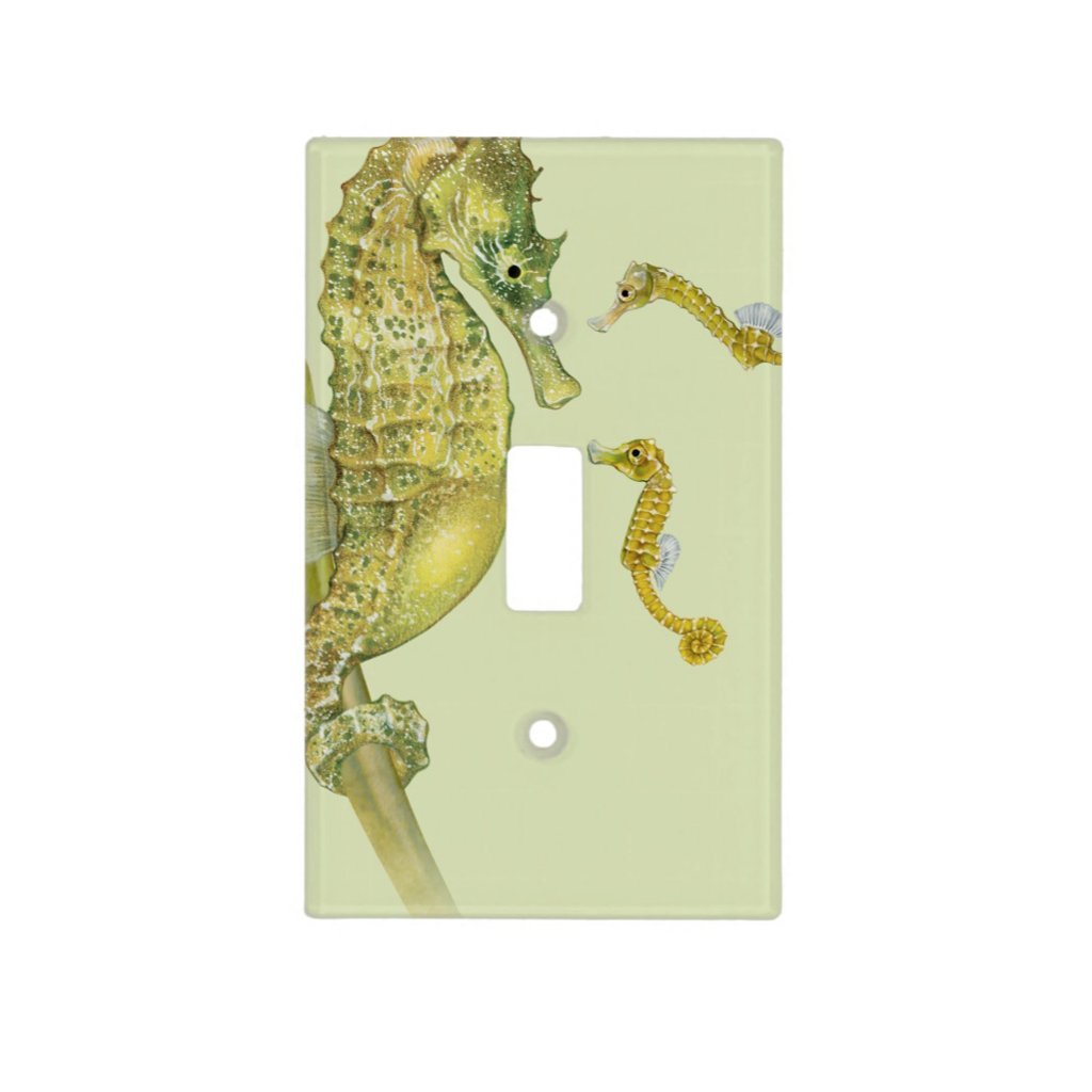 [222-SC] Pacific Seahorse Family Light Switch Cover