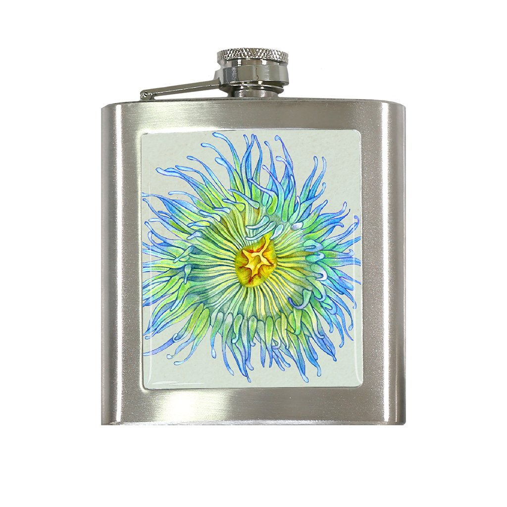 [FL-339] Green Sea Anemone Flask
