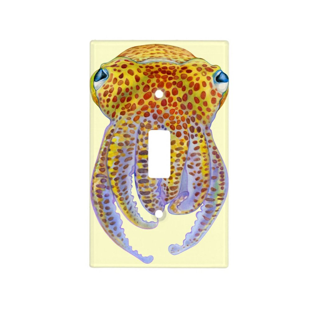 [356-SC] Hawaiian Bobtail Squid Light Switch Cover