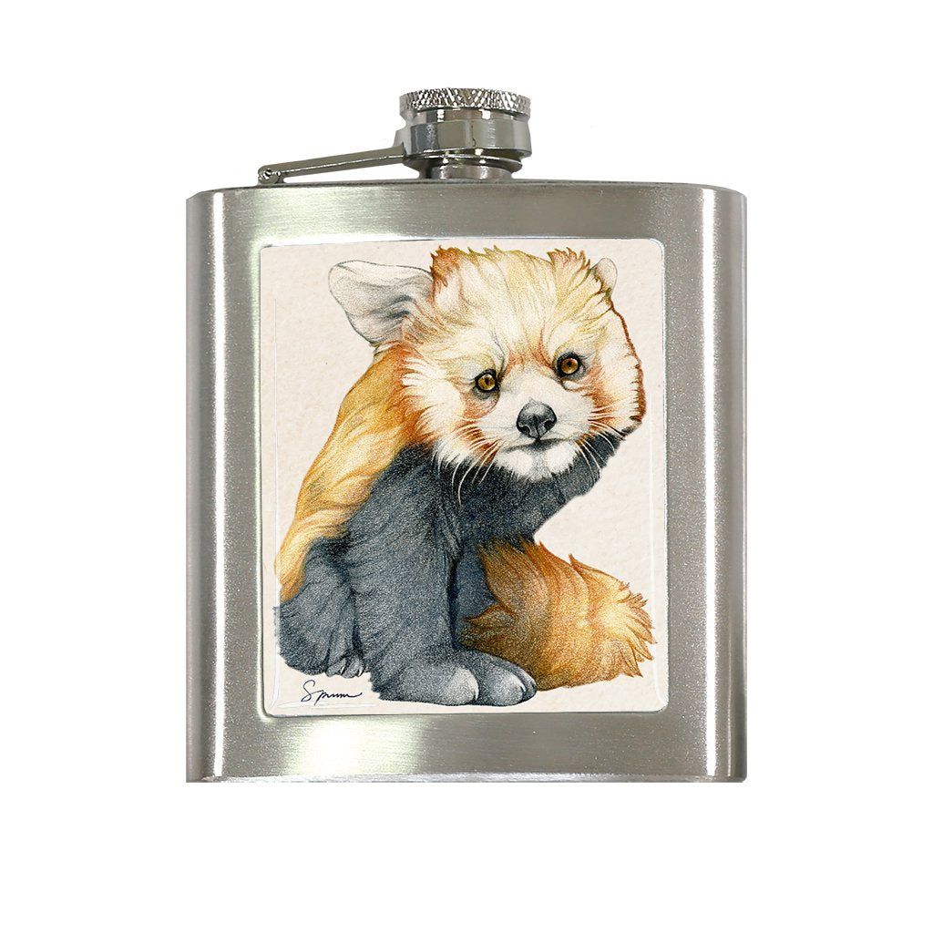 [FL-412] Red Panda Cub Flask