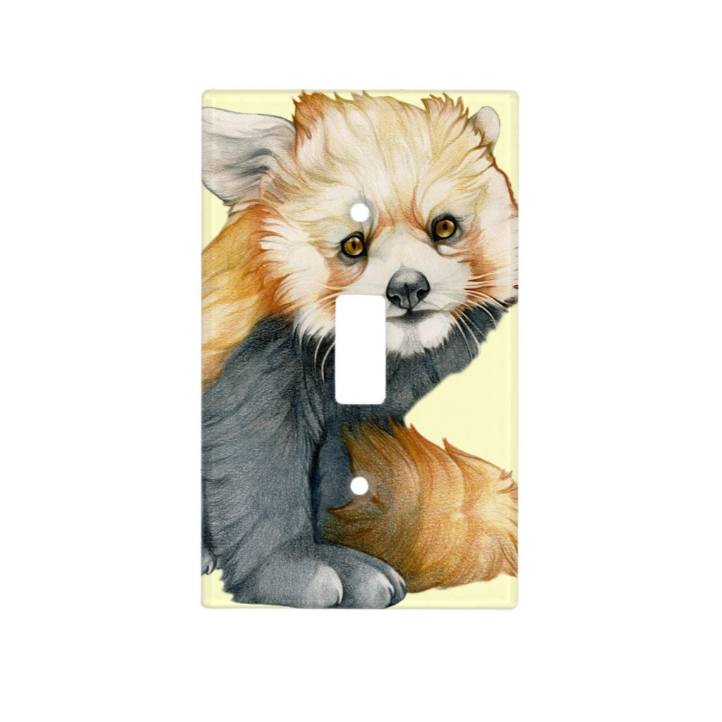[412-SC] Red Panda Cub Light Switch Cover