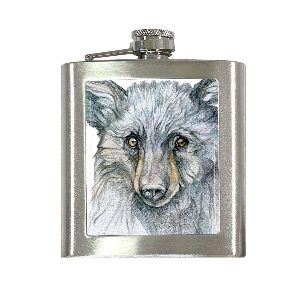 [FL-440] Black Bear Flask