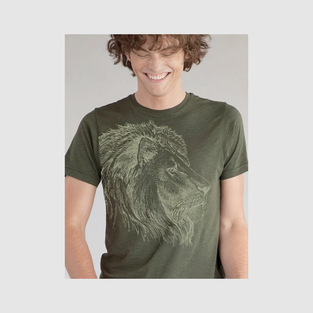 [458-T] Lion Portrait Sketch Tee