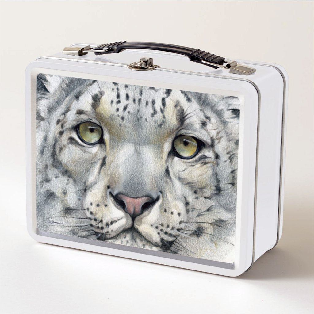 [465-LBT] Snow Leopard Portrait Lunch Box